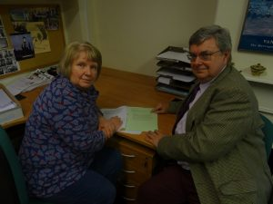 Somerset County Councillors Jane Lock and Sam Crabb